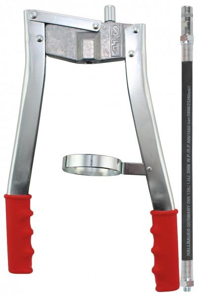 Profi Zweihand Fettpresse PZP 500 M-110 mit 300 mm Sicherheits-Gummipanzerschl.