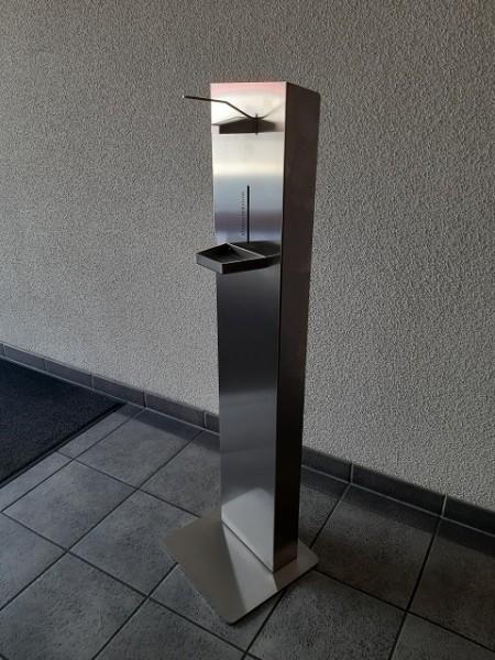 Desinfektionsmittelspender - Edelstahl Hygiene-Station