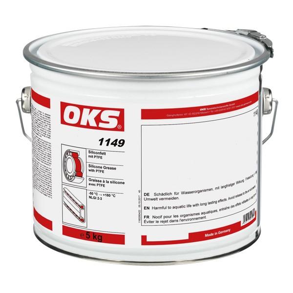 OKS 1149 - Silikonfett mit PTFE für Kunststoff-Metall-Paarungen 5 kg