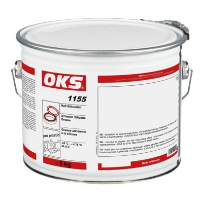 OKS 1155 - Haft-Silikonfett für Elastomere und Kunststoff 5 kg
