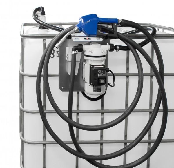 AdBlue-Betankungsset BASIC Plus mit Membranpumpe Autom.Edelstahl Zapfpistole