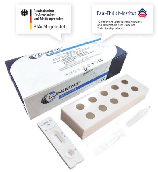 CLUNGENE Rapid-Test 3 in 1 Antigen Schnelltest VE 25